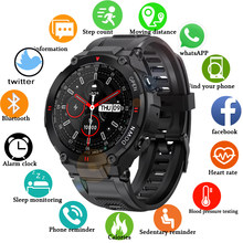 2021 Military sports Smart Watches Bluetooth call Clock Heart rate monitor IP68 waterproof Activity tracker smart watch for men