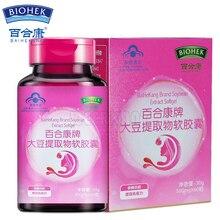 4 бутылки сои изофлавоны соя для менопауза, облегчение менопауза помогает естественным образом снять горячие вспышки и ночные потливость