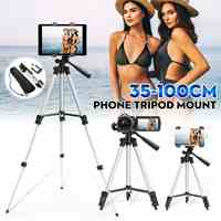 Portable Tripod Holder Stand for Canon Adjust Tripod for Camera Smartphone Tripods Cam DSLR Mount Selfie holder with Phone Clip