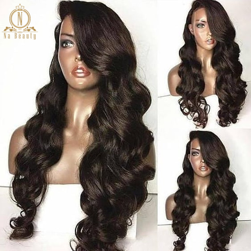 Wig Hair Human-Hair-Wigs Lace-Frontal Wave Black 360 HD for Women 13x6 Transparent Remy title=