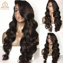 HD Transparent 360 Lace Frontal Wig Pre Plucked Baby Hair Loose Wave HD 13x6 Lace Front Human Hair Wigs Remy Black For Women