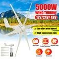 Turbine éolienne à lame en Nylon  5000W 12 V/24 V/48 V 6  générateur de puissance Horizontal  Générateurs d'énergie alternative     -