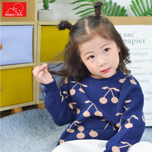 autumn spring girls boys sweaters cute kids knitwear clothes fashion children long sleeves pullover kids clothing black lace details long sleeves knitwear