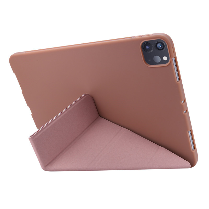 Case 11inch for Rose-Gold Pink Green Soft-Silicone Back iPadpro Magnetic Smart-Cover
