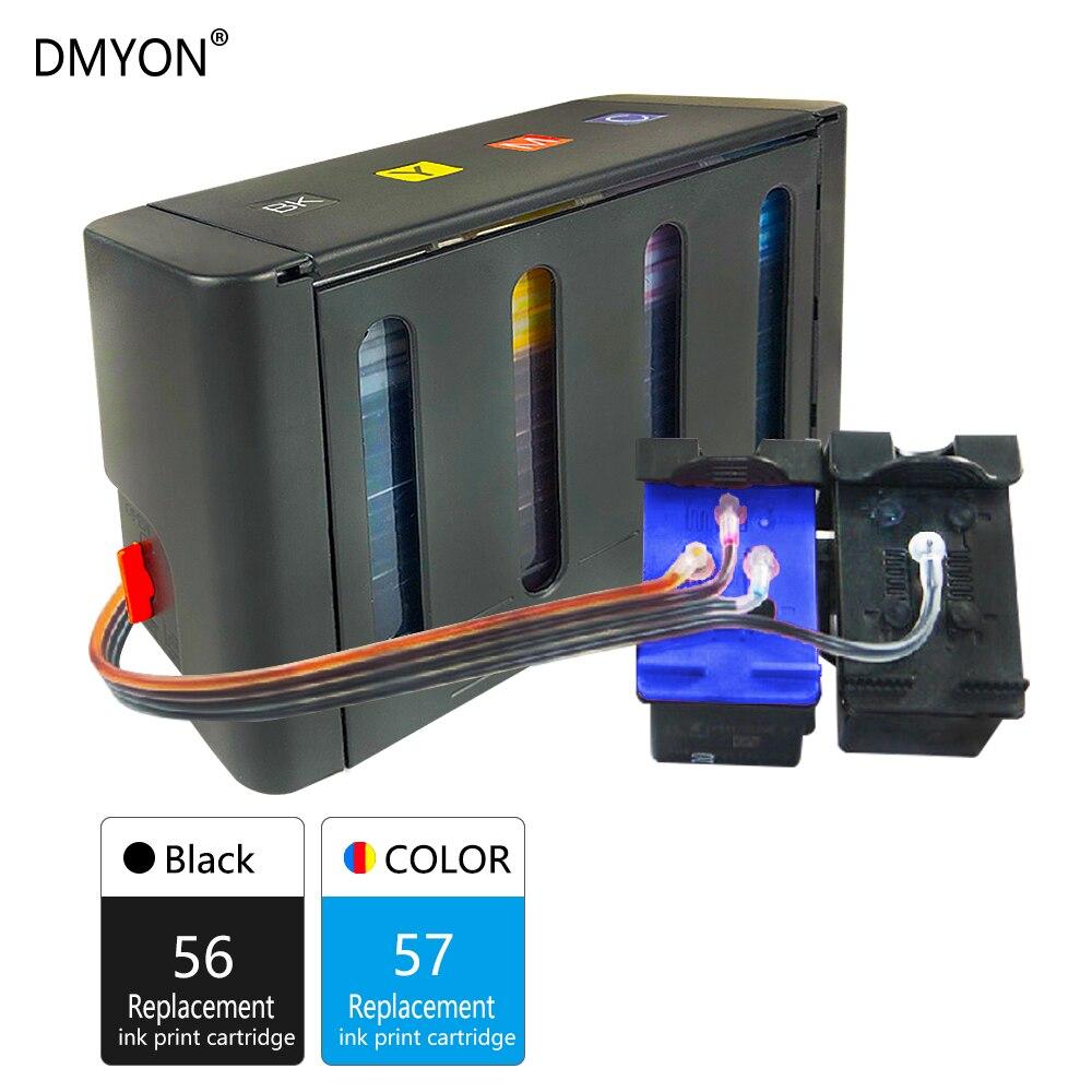 DMYON Compatible pour HP 56 57 Système D'alimentation En Encre Continue CFP 1110 1209 1210L 1210v 1210xi 1311 1315 1350v 2110 2175 Imprimante