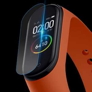 Cushion Protective-Cover Tempered-Glass-Protector Mi-Band Xiaomi Films Edge-Screen 9H