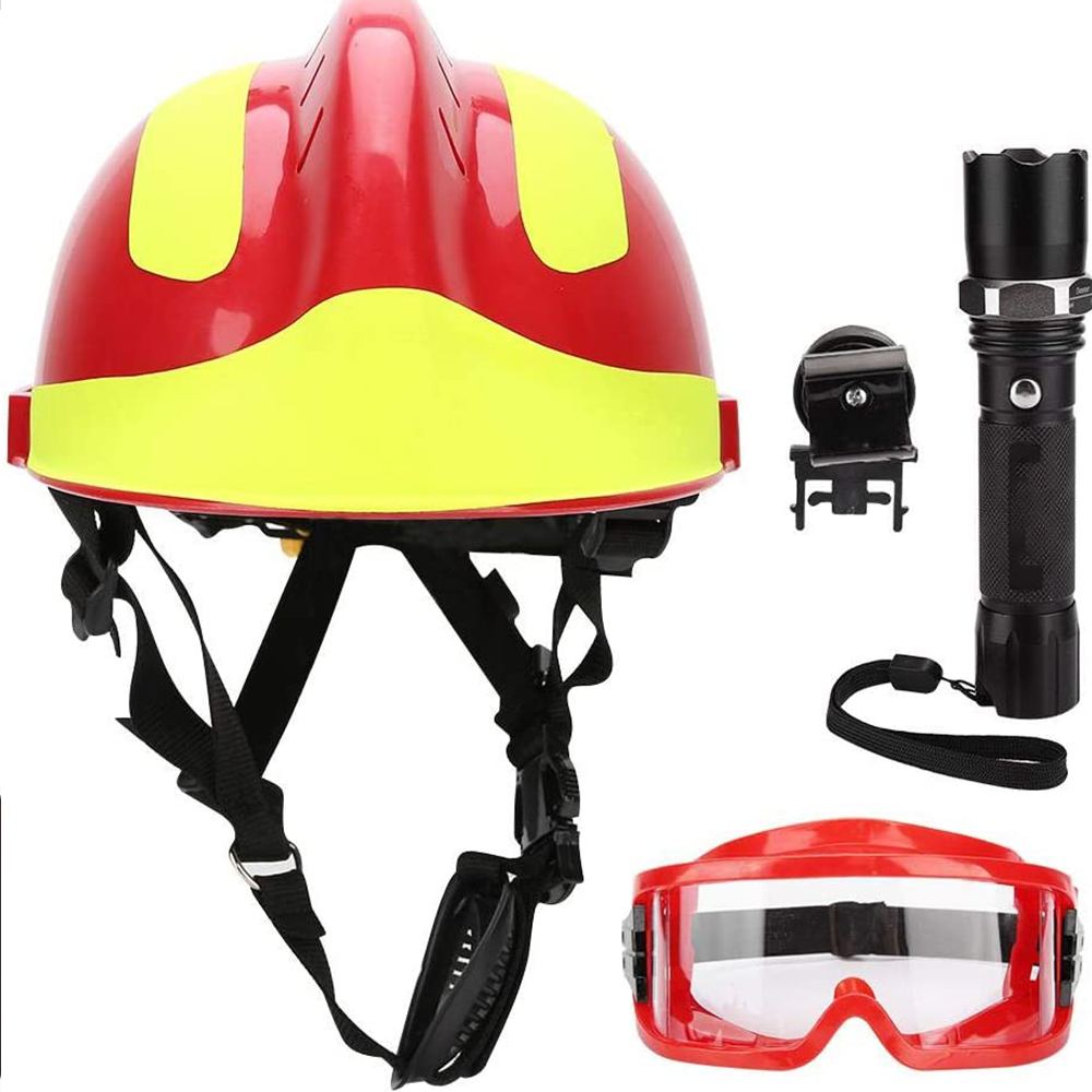 F2 Emergency Rescue Helmet Firefighter Safety Helmets Workplace Fire Protection Hard Hat Accessories Safety Construction Helmet