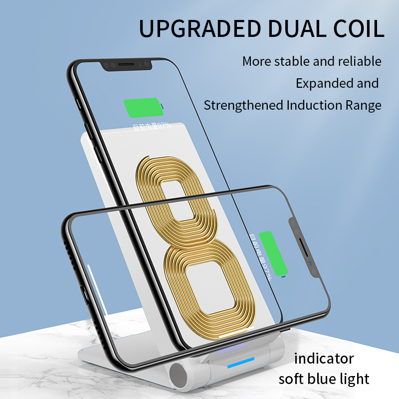 Image 2 - iHaitun 15W Qi Wireless Charger Type C Quick Charge 3.0 4.0 Stand Phone Holder Pad For iPhone 11 Pro Max Samsung Galaxy S10 USBMobile Phone Chargers   -