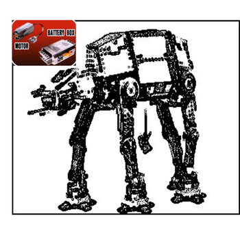 05050 Star Force War Awaken The AT-AT Transportation Armored Robot With Motor Building Blocks Bricks Toys 10178 Birthday Gifts