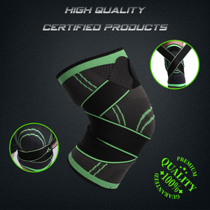 Image 2 - WorthWhile 1PC Sports Kneepad Men Pressurized Elastic Knee Pads Support Fitness Gear Basketball Volleyball Brace Protector