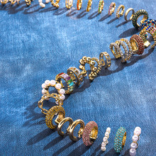 2020 New Fashion perłowa nakładka na uszy Bohemia stackowalne w kształcie litery C CZ Rhinestone małe klipsy Earcuffs dla kobiet biżuteria ślubna