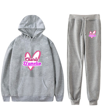 Nes Charli Damelio Merch Hoodie Womens Tracksuit Sweatpants Suit Charlie Damelio Shirt Trousers Sets Unisex Clothes Print Casual 1