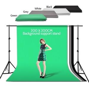 Image 2 - ZUOCHEN תמונה סטודיו רקע מתכווננת תמיכה Stand ערכת 1.6x3m שחור/לבן/ירוק/אפור רקע מסך