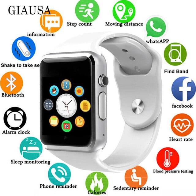 2019 nouvelle montre intelligente horloge synchronisation notifiant Support SIM TF carte connectivité Apple iphone Android téléphone femmes hommes Smartwatch GT08