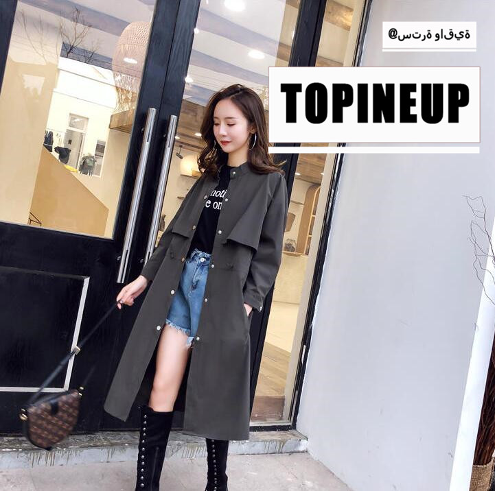 2019 Fashion Long Sleeve Windbreaker Women Warm Solid Color Soft Single Breasted Over Knee Long Sleeve   Trench   Coat For Female