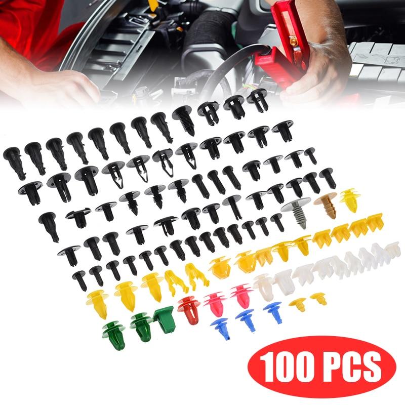 200pcs Assortment Mixed Car Door Panel Fender Liner Retainer Fastener Clip Rivet