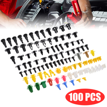 100pcs Mixed Auto Fastener Car Bumper Clips Retainer Rivet Door Panel Fender Liner For All