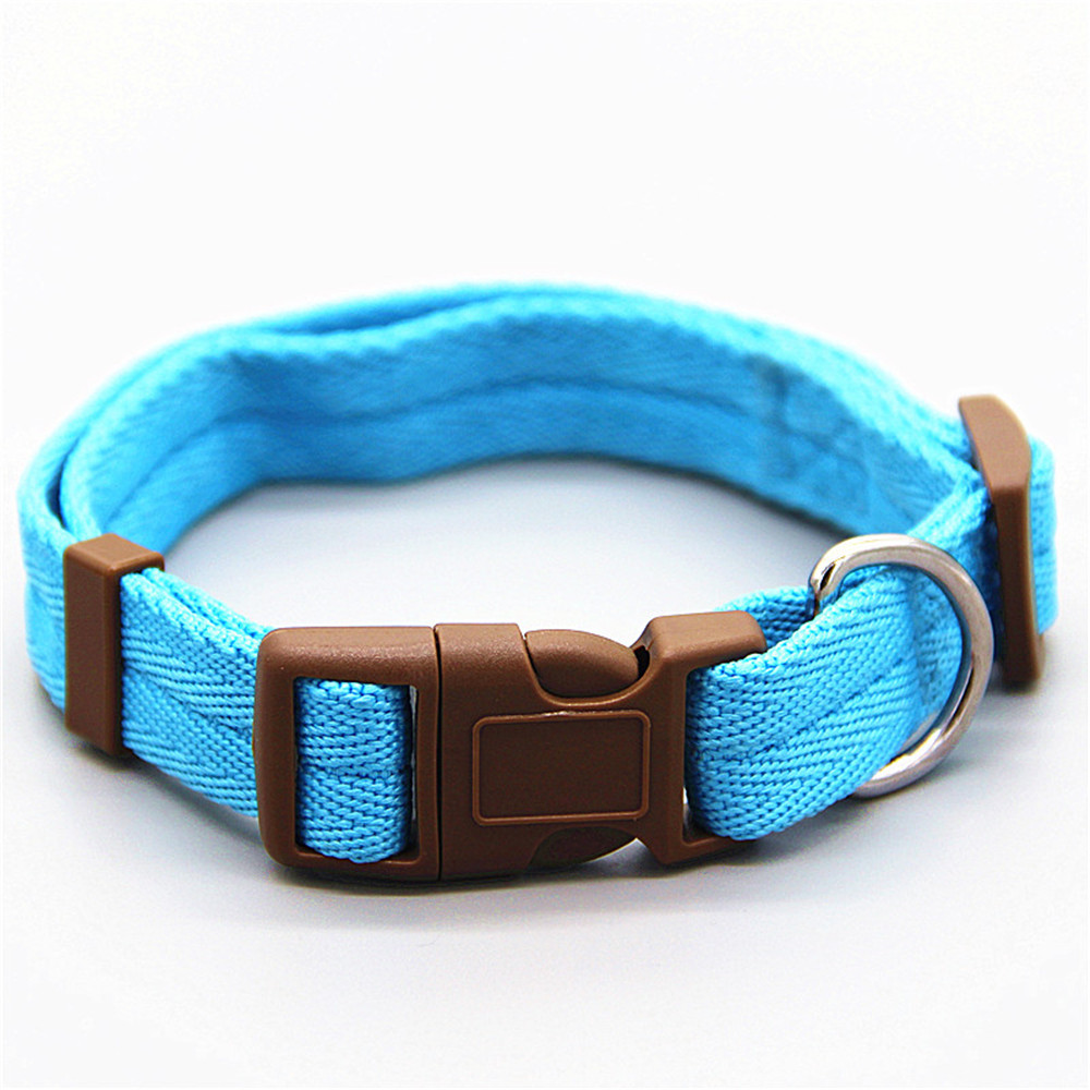 Dog collar Nylon 7 colors are optional neck strap Adiustable 4 sizes for small and medium