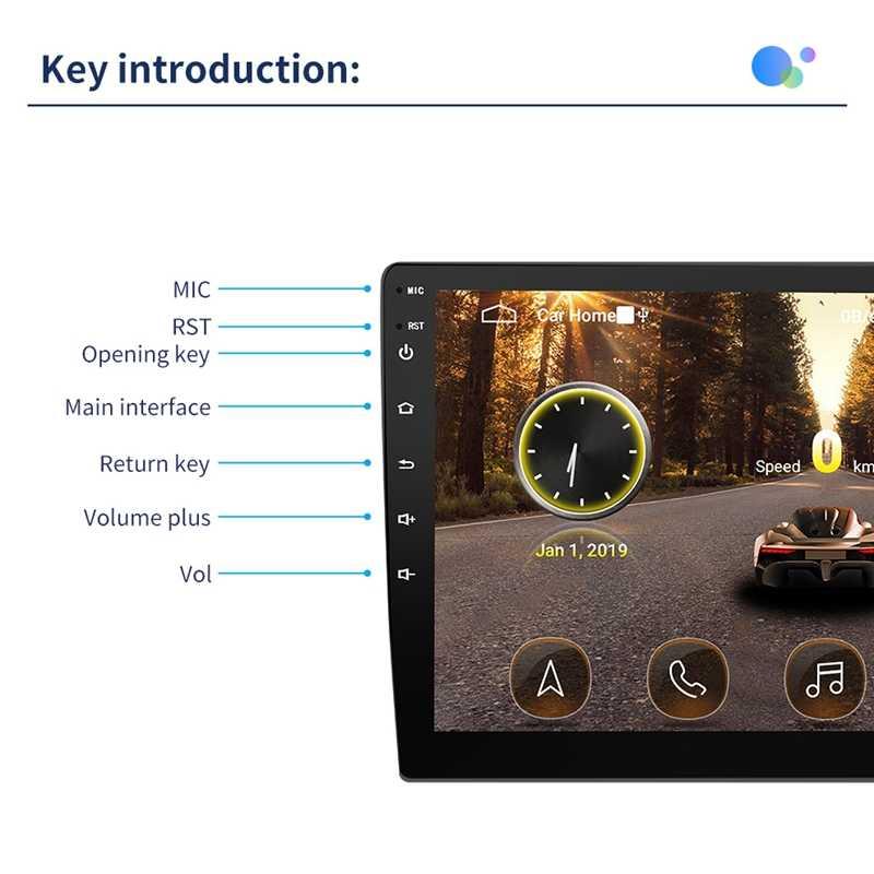 10.1 Inci Nyata Android 8.1 Mobil Radio Mobil GPS Navigasi Wifi Bluetooth Mobil Mp5 Multimedia Player dengan 12LED Kamera Belakang