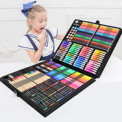 Juego de Arte de 258 piezas con rotulador de pintura, Kit de herramientas de súper artista, lápiz de dibujo para niños, caja de regalos de cumpleaños suministros