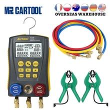 Mr Cartool جهاز اختبار ضغط الفراغ ، أداة التبريد ، مقياس الضغط الرقمي ، HVAC ، مشبك الأنبوب