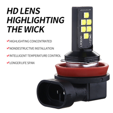 2 adet vurgulamak araba Led H4 H7 H11 Led 21W sis lambası 3030 12SMD Canbus hiçbir hata H3 9005 9006 Led araba aksesuarları anti sis lambası 12V