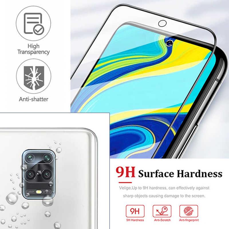 2in1 di vetro per Xiaomi redmi nota 9 pro max nota 9 s note9s note9pro note9 s9 ksiomi readmi con la macchina fotografica glas obiettivo di protezione completa