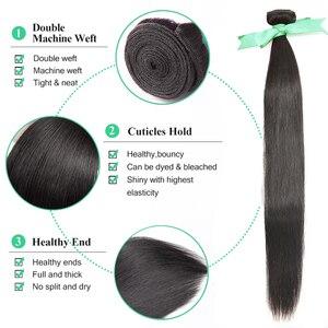 Image 5 - Straight 8 34 36 38 40Inch Braziliaans Haar Weave Bundels Remy Haar 100% Human Hair Extension Lange Volledige haar
