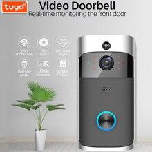 Туя в 1080p WiFi видео дверной звонок умный дверной звонок с камеры безопасности пир обнаружения движения двустороннюю домофон поддержка Алекса Гугл дома