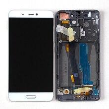 "Pantalla Original M & Sen de 5,15 ""para Xiaomi 5 Mi5 M5, pantalla LCD + digitalizador táctil con marco + huella dactilar para Xiaomi Mi 5 LCD"