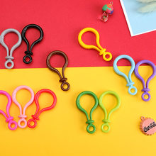 2019 New Multi-color Plastic Lobster Claw Clasps Snap Hook Key Ring Keychain Craft Purse toy doll tool Jewelry Making(China)