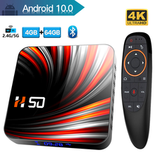 HONGTOP android tv box android 10 64GB 2.4G&5G Dual-wifi Rockchip 3318 Qual-core tv box 4k Bluetooth 4.0 smart tv box android