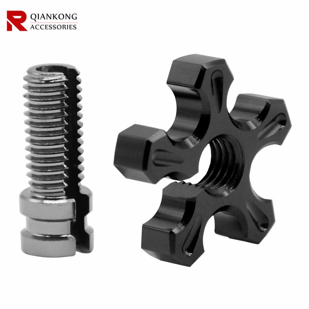 M8 M10 Universal Motor CNC Aluminium Kopling Kabel Kawat Adjuster Kopling untuk Suzuki TL1000S TL1000R SV650 SV1000 GSXS1000