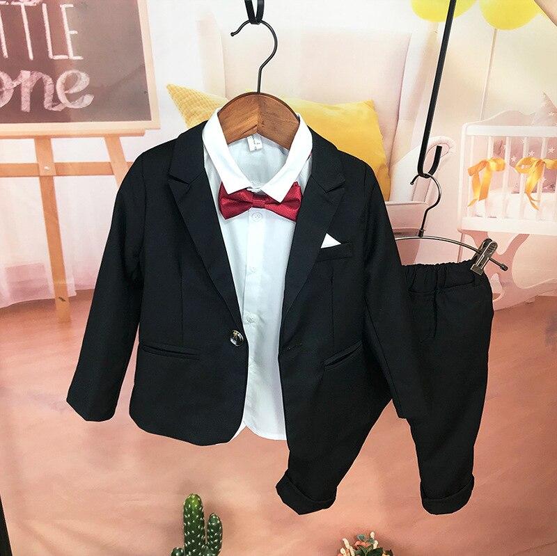 CHILDREN'S Business Suit Flower Boys/Flower Girls Host Formal Dress Korean-style Baby Slim Fit Suit Boys' Suit Two-Piece Set Fas