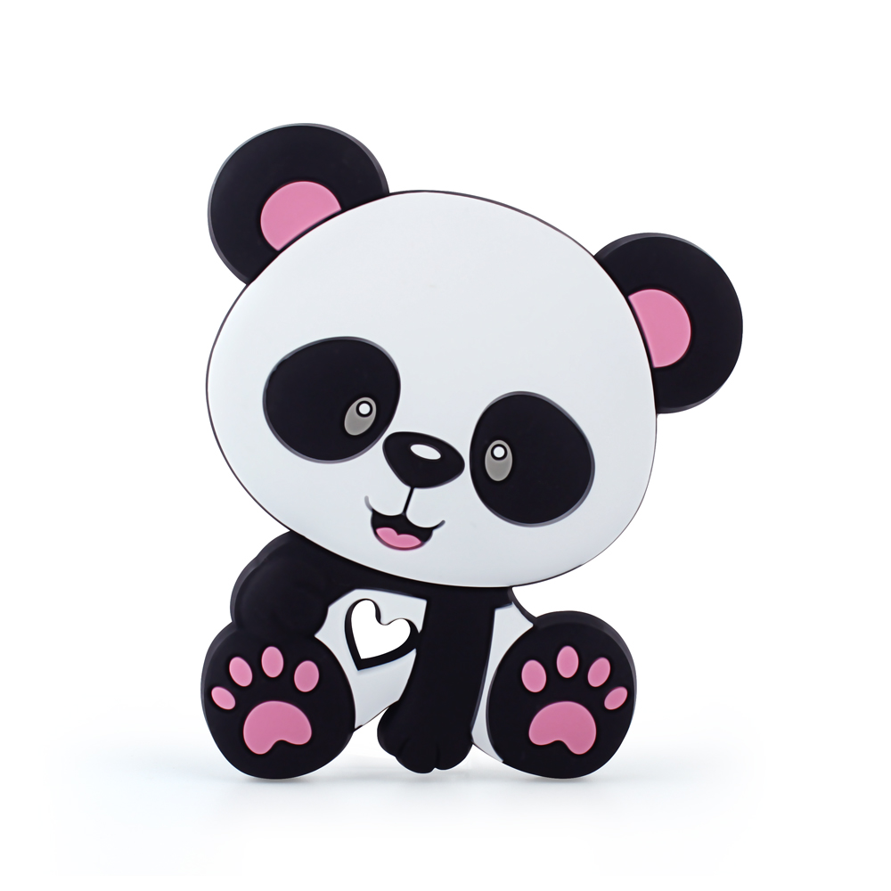 Keep&Grow 10pcs Silicone Panda Baby Teethers Teething Toys DIY Necklace Making Accessories Food Grade Silicone Baby Products