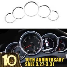 цена на For Porsche Cayenne 2011-2016 For Porsche Panamera 2010-2015 High Quality ABS Dashboard Console Decorative Ring Trim 5pcs