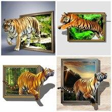 HUACAN kit para bordar cuadro de diamantes DIY Fotos de Tigre de diamantes de imitación diamante del bordado de animales mosaico decoración para el hogar