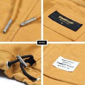 Image 3 - SIMWOOD 2020 wiosna nowa modna kurtka mężczyźni szorty kurtki okazjonalne 100% płaszcze bawełniane kieszeń wysokiej marka jakości odzież 190092