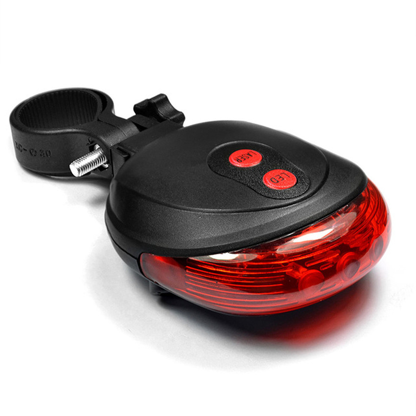 5 LED 2Laser Cycling Bicycle Bike Lights 7 Mode Safety Rear Lamp Waterproof Laser Led Light Tail Warning Flashlight for Bicycles