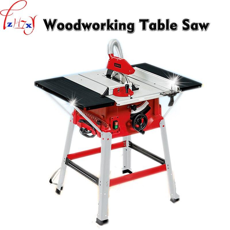 Machine de découpe de bois multifonction 10 pouces scie à Table coulissante plaque de poussée scie Angle coupe scie circulaire Machine 220V 1PC