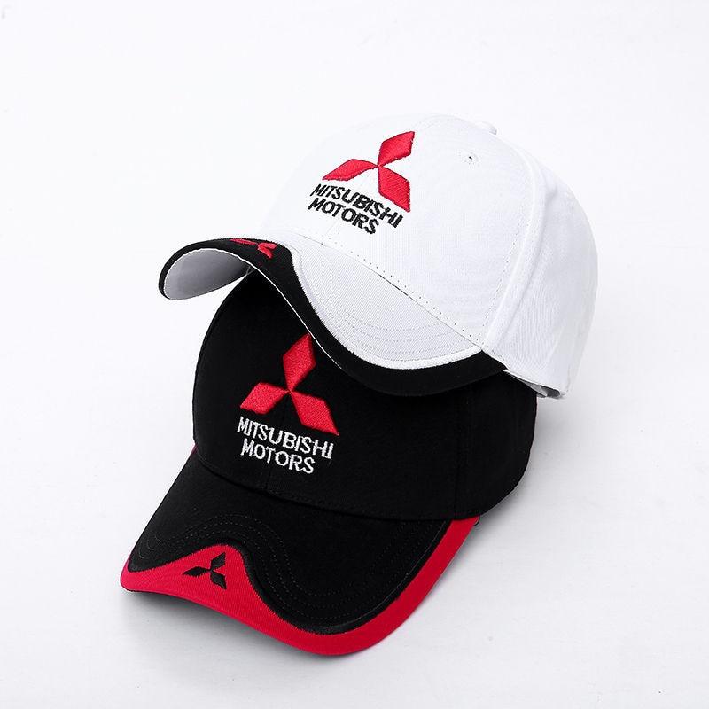 Wholesale 2017 New 3D Mitsubishi Hat Cap Car Logo MOTO GP Racing F1 Baseball Cap Hat Adjustable Casual Trucket Hat CJ01
