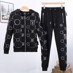 بدلة رجالية Starbags PP الجمجمة اللون الماس هوديي القطن الخالص 2020 ربيع جديد كول موضة ملابس رياضية عصرية شعبية