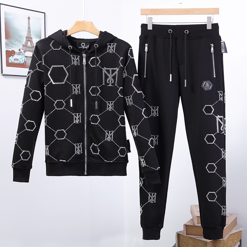 Men's Suit Starbags PP Skull Color Diamond Hoodie Pure Cotton 2020 Spring New Cool Fashion Casual Sportswear Popular