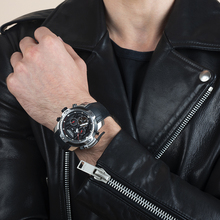 שונית טייגר/RT ספורט שעון מורכב חיוג עם שנה חודש תמידית לוח שנה גדול פלדת Case שעונים RGA3532