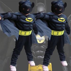 Christmas Boys Muscle Super Hero Captain America Costume Spidan Hulk Batman Aven Costumes Cosplay for Kids Boy