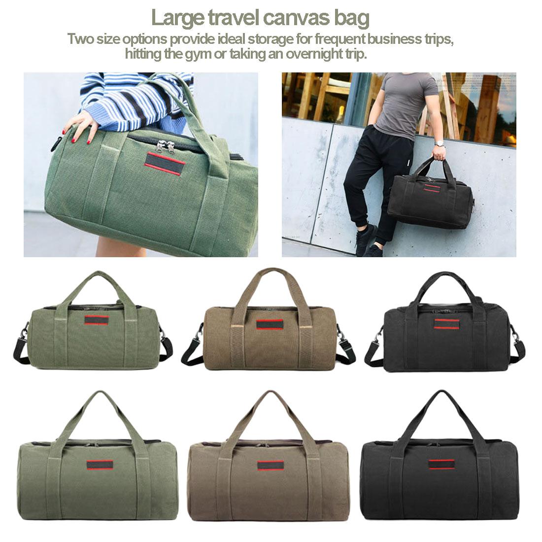 Unisex Large Capacity Travelling Canvas Handbag Single-Shoulder Cross-Body Bag Luggage Bag