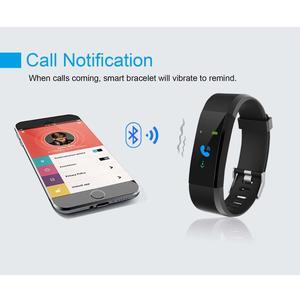 Image 5 - 115Plus Multifunctionele Armband Stap Tellen Informatie Herinnert Slaap Hartslag Gezondheid Monitoring Voor Fitness Liefhebbers
