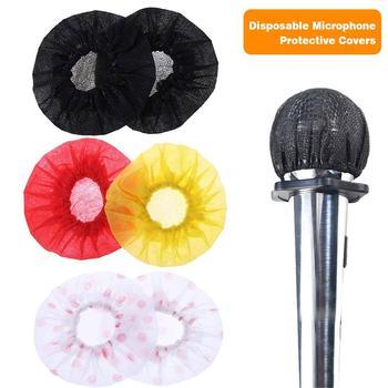 Relleno desechable para micrófono de tela no tejida, 100 Uds., almohadilla protectora para micrófono y micrófono, suministros para Karaoke, triangulación de envíos