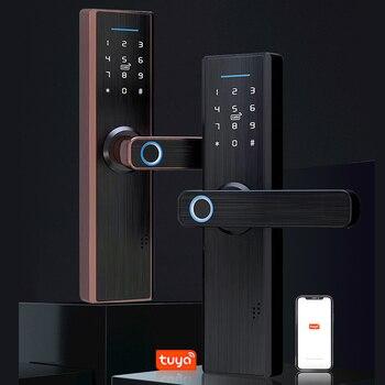 Smart Fingerprint Lock IC card password Unlock Remote Control with WIFI APP Intelligent Home Security Digital Door Lock