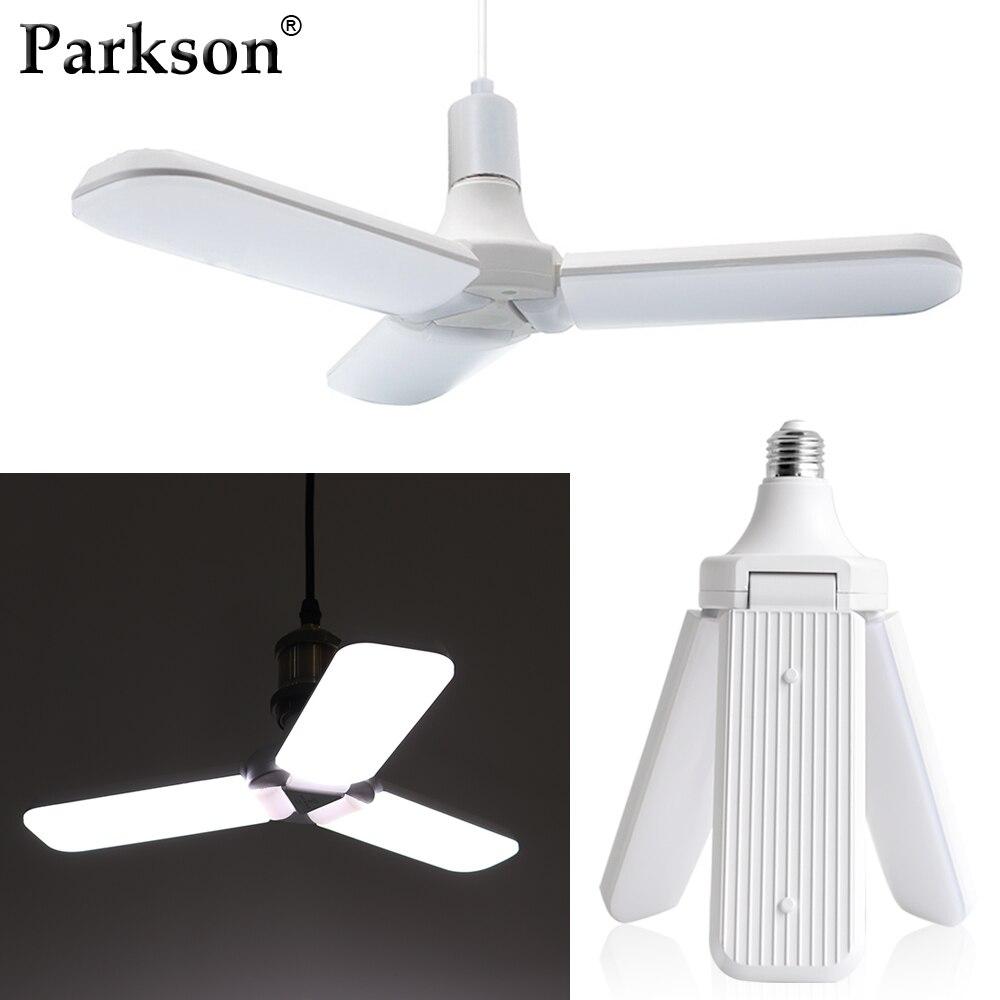 Super Bright 45W 60W E27 LED Bulb Foldable Fan Blade Bulb LED Lamp Angle Adjustable Indoor Cold White Lampada Led Light Bulb